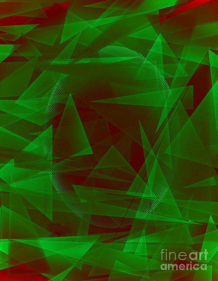 Green Eyed Monster Abstract Digital Art