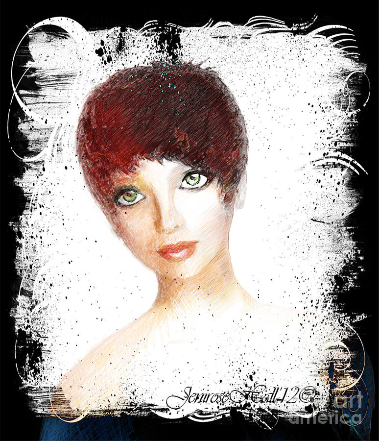 Green Eyes Mixed Media  - Green Eyes Fine Art Print