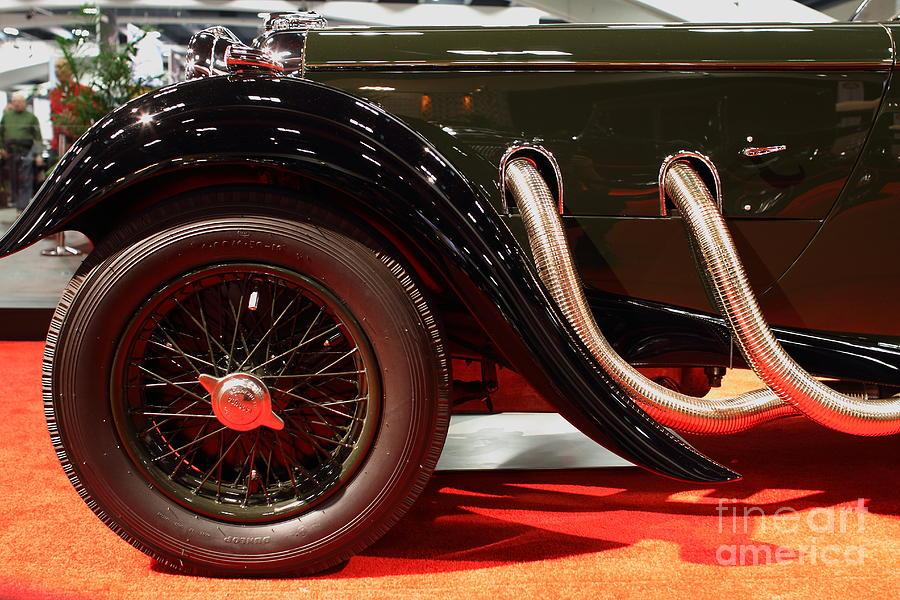Green Lagonda Classic Car Front Side View Photograph