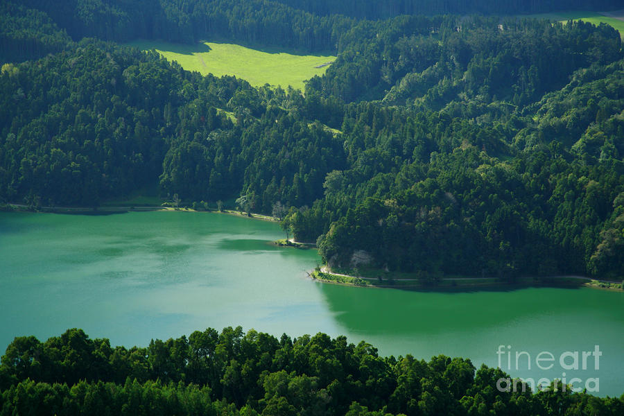 Green Lake - Azores Photograph  - Green Lake - Azores Fine Art Print