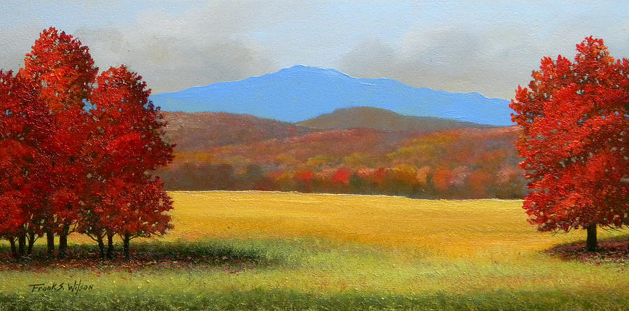 Green Mountain Landscape Painting