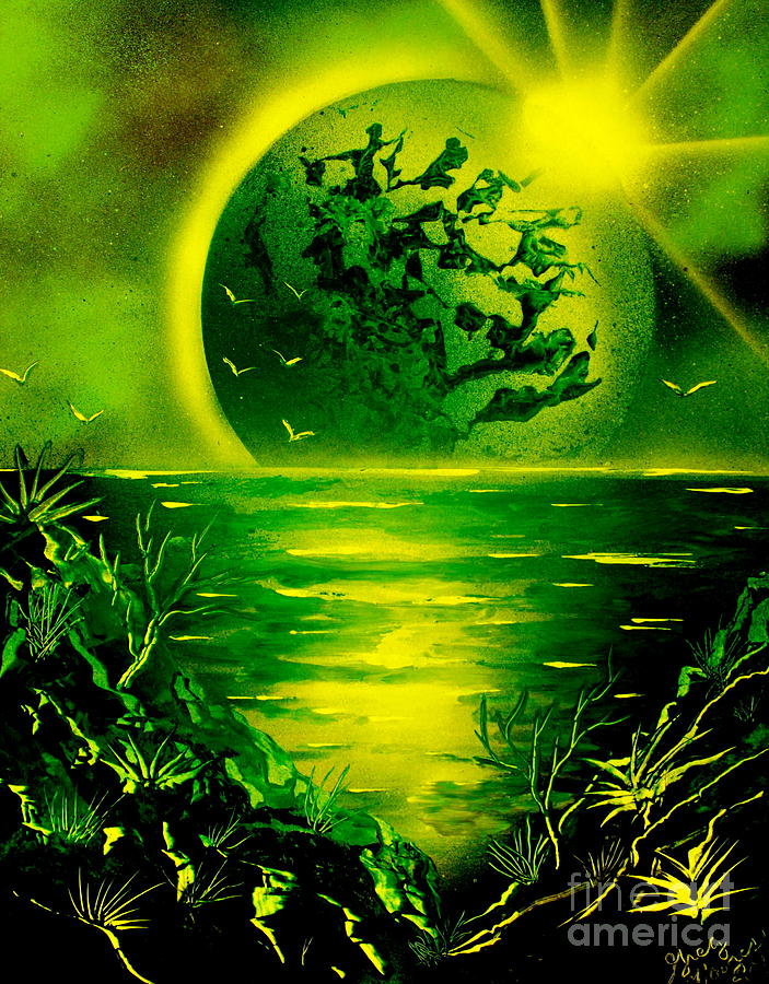 Green Planet 4669 E Painting