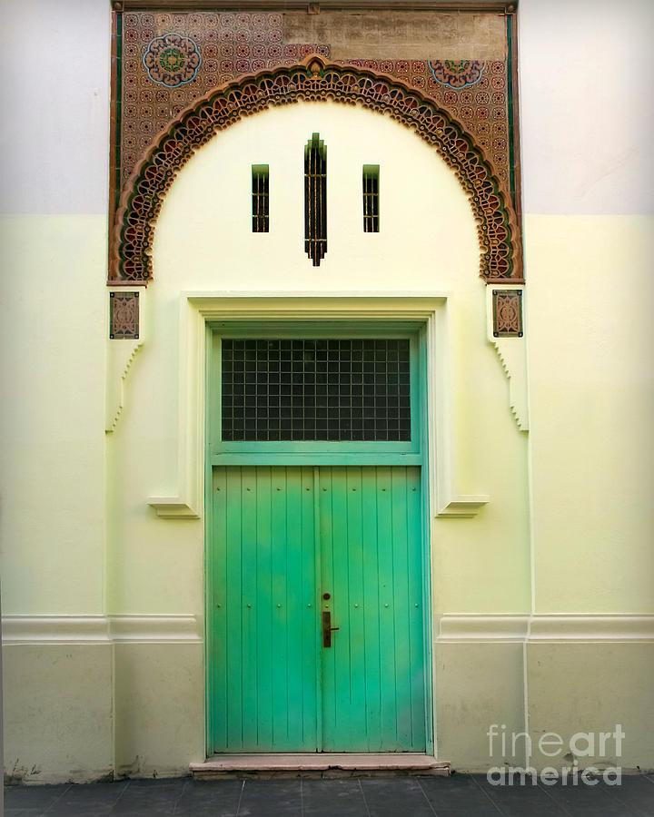 Green Spanish Doors Photograph