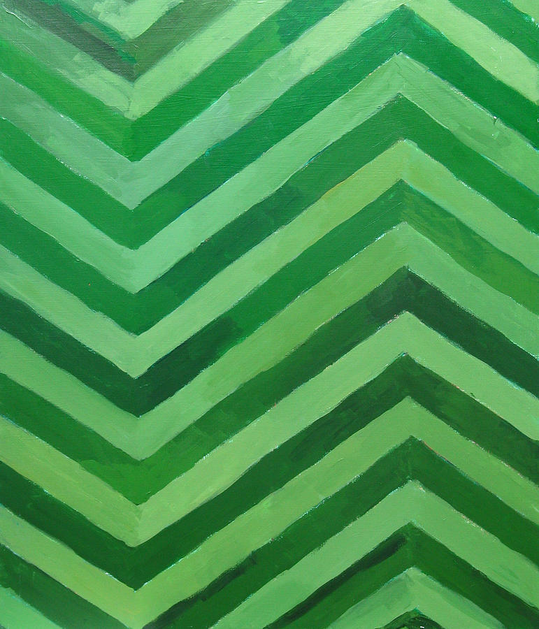 Green Stripes Painting