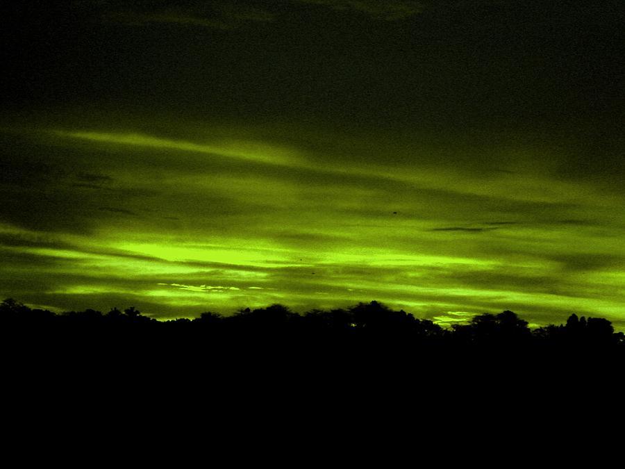 Green Sunset Photograph