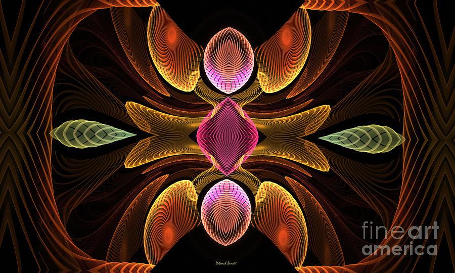 Green Teardrops Digital Art