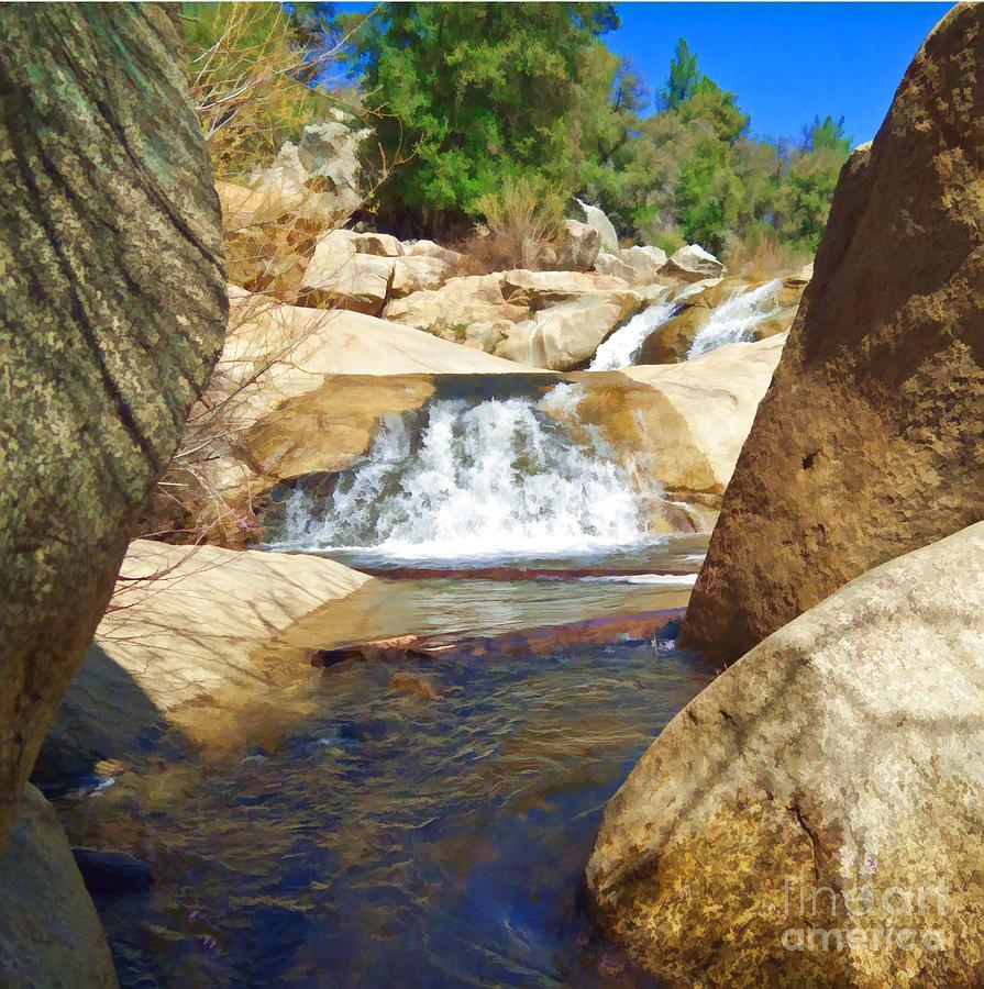 Green Valley Falls Digital Art By L J Oakes