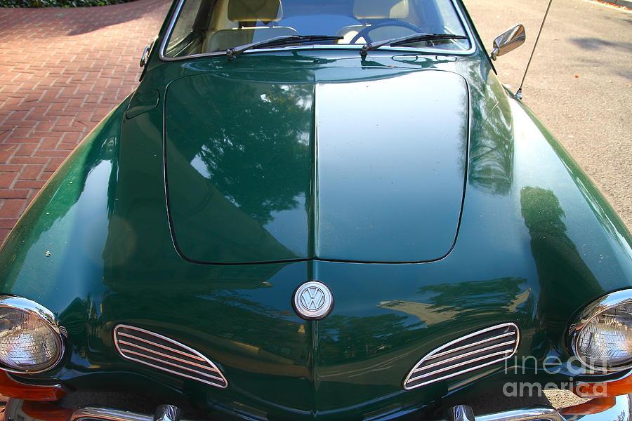 Green Volkswagon Karmann Ghia . 7d10088 Photograph