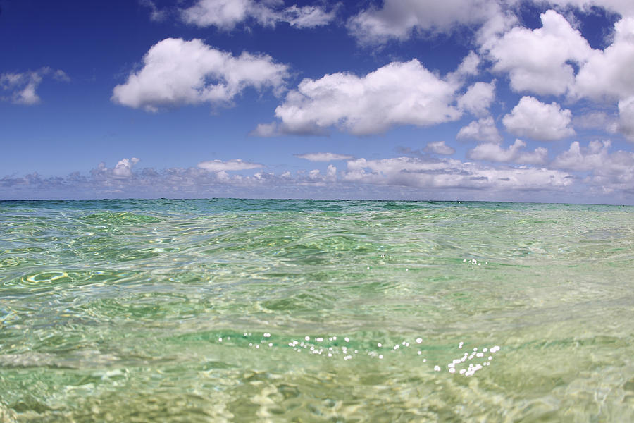 Green Water Seascape Photograph