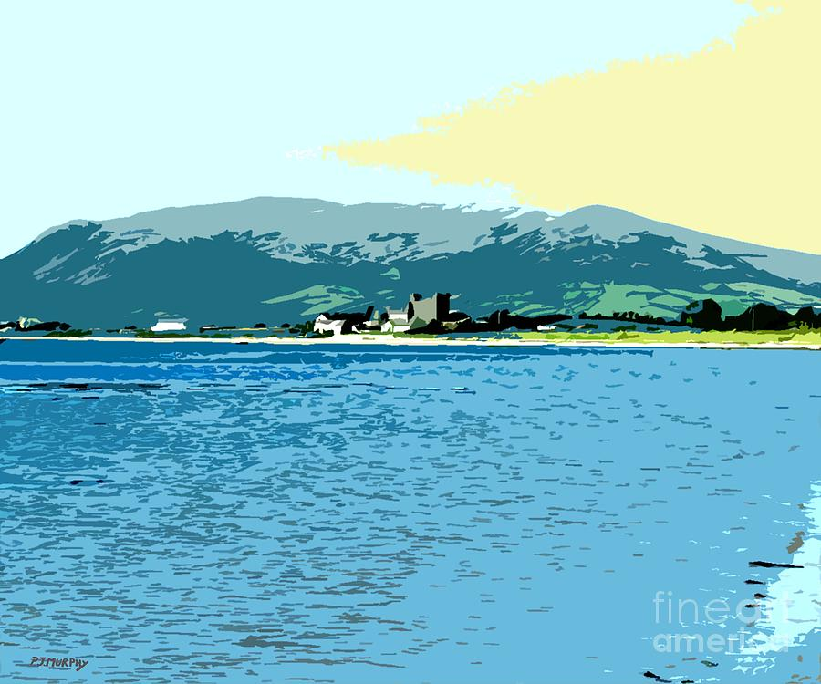 Greencastle By The Sea Painting  - Greencastle By The Sea Fine Art Print