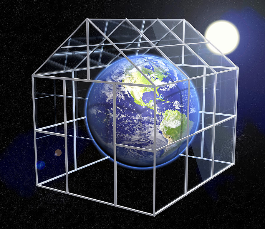 Greenhouse effect conceptual image photograph by roger harris for Green housse effect