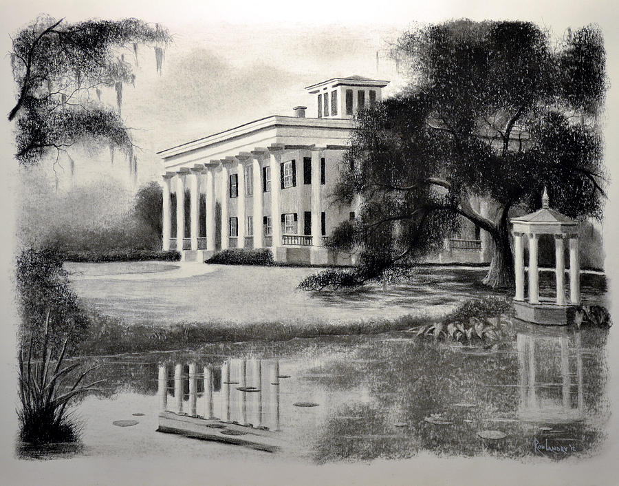 Greenwood Plantation Drawing  - Greenwood Plantation Fine Art Print