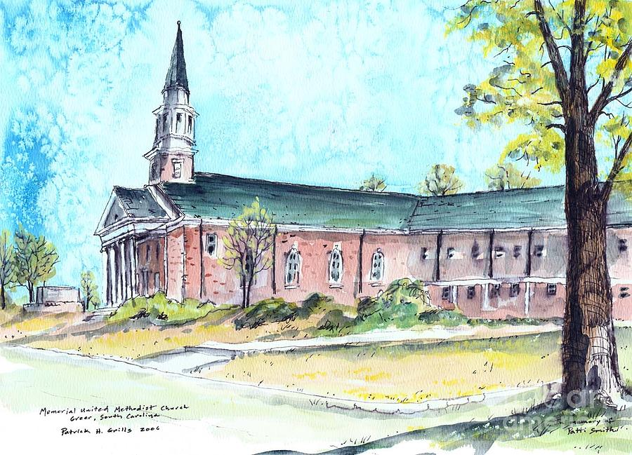 Greer United Methodist Church Painting