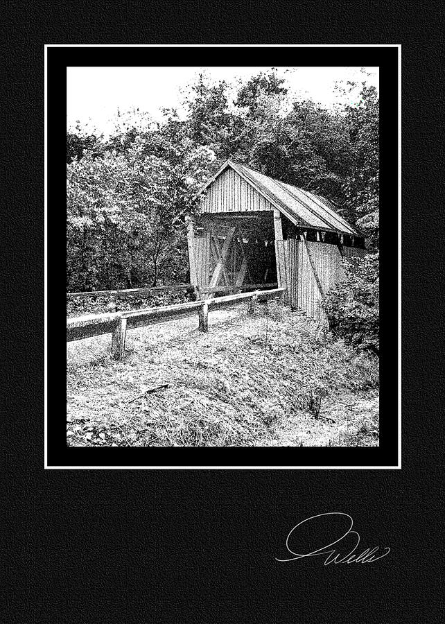 Greeting Card - Campbells Covered Bridge - Architectural Renderings Mixed Media