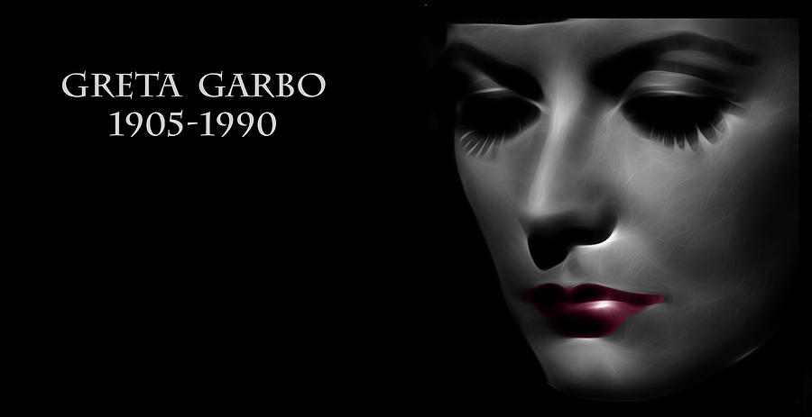 Greta Garbo 1905 1990 Digital Art