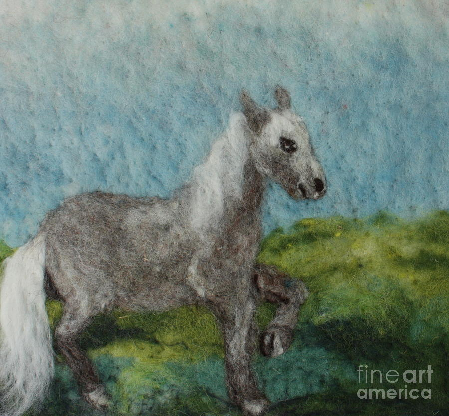 Grey Horse Tapestry - Textile