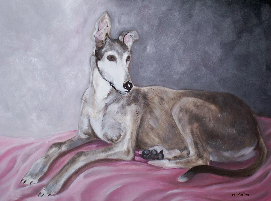 Greyhound At Rest Painting