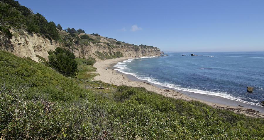 Greyhound Rock Beach Panorama - Santa Cruz - California Photograph