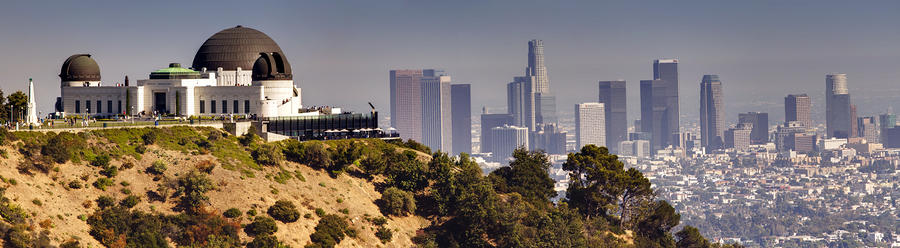 Griffith And Los Angeles Photograph  - Griffith And Los Angeles Fine Art Print