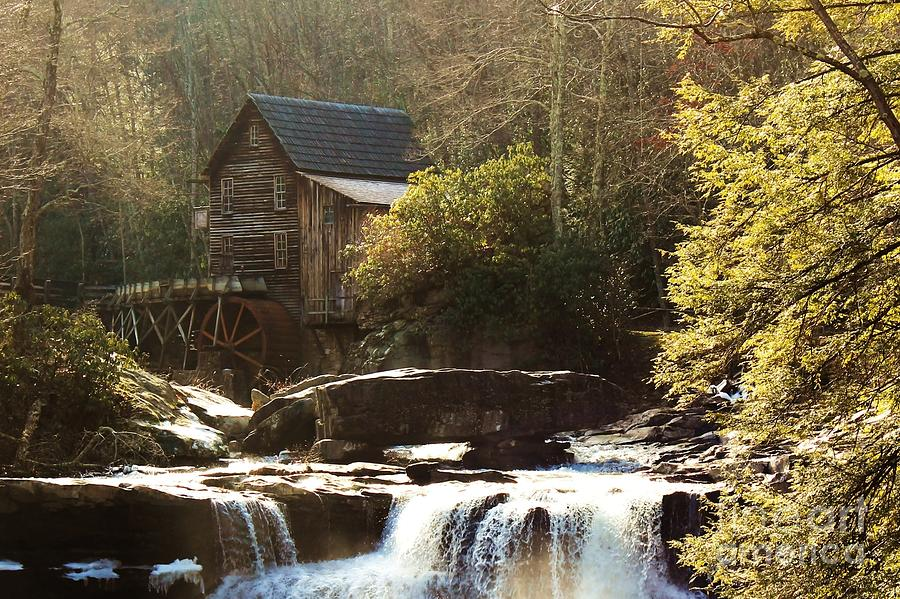 Grist Mill At Babcock State Park Photograph  - Grist Mill At Babcock State Park Fine Art Print