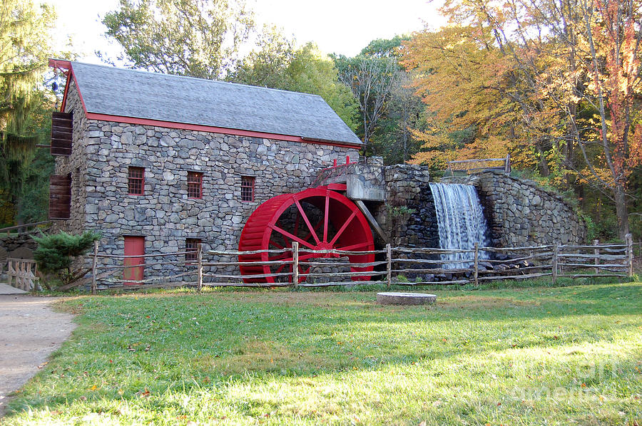 Grist Mill Photograph - Grist Mill At Wayside Inn by John Small