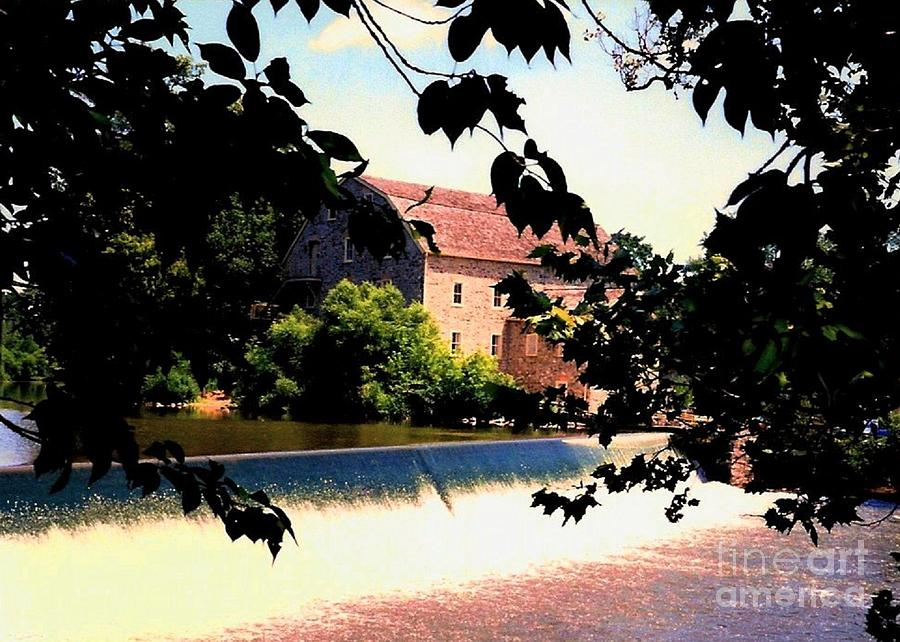 Grist Mill In Clinton Nj Photograph  - Grist Mill In Clinton Nj Fine Art Print