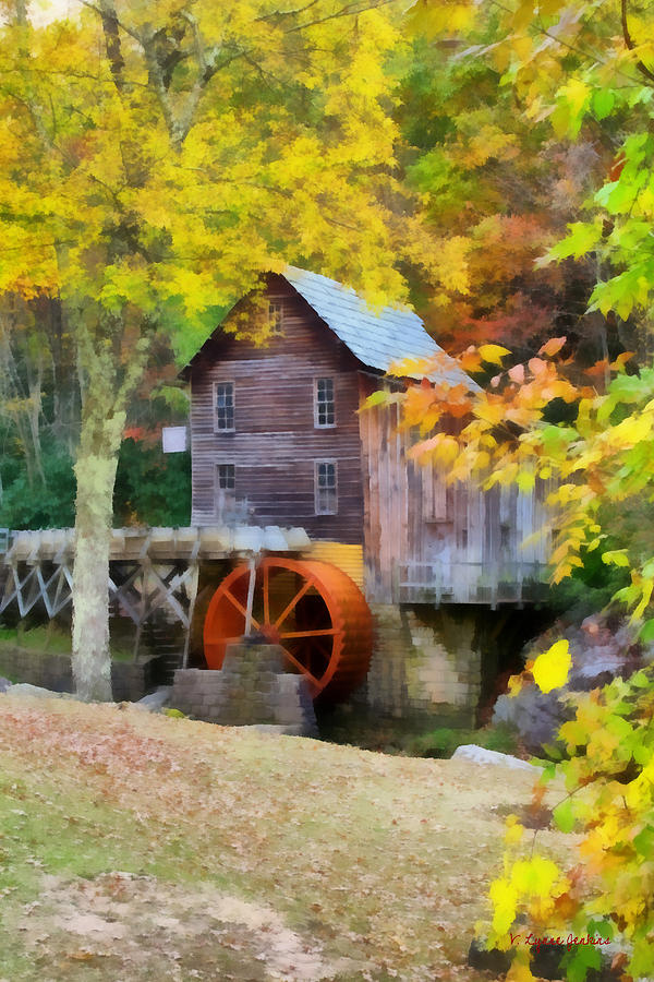 Glade Creek Painting - Grist Mill by Lynne Jenkins