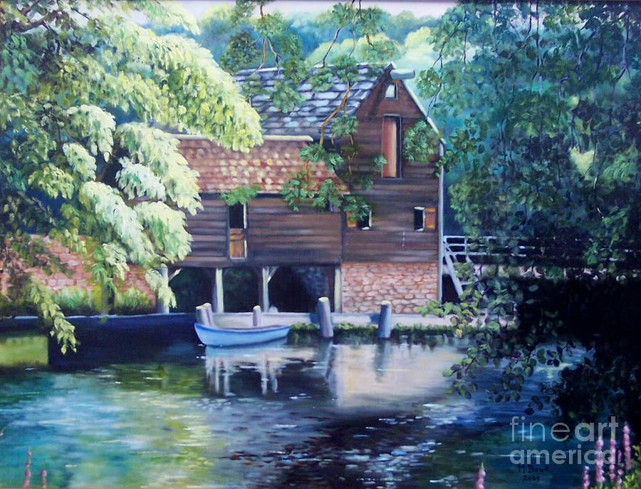 Grist Mill Philipsburg Ny Painting  - Grist Mill Philipsburg Ny Fine Art Print
