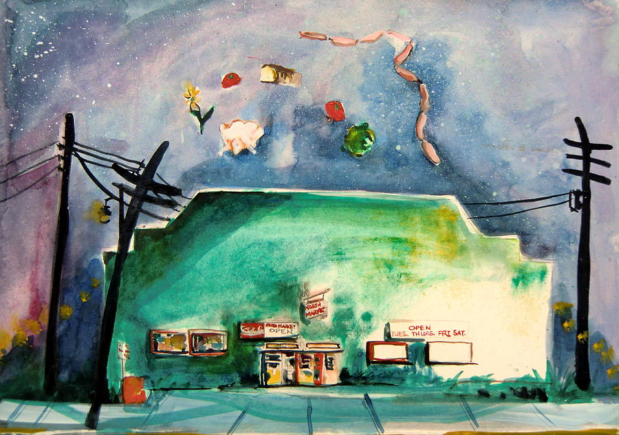 Food Painting - Groceries Come And Go by Mindy Newman