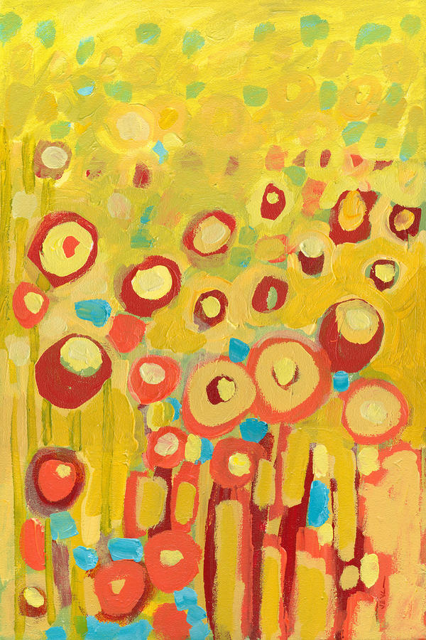 Growing In Yellow No 2 Painting