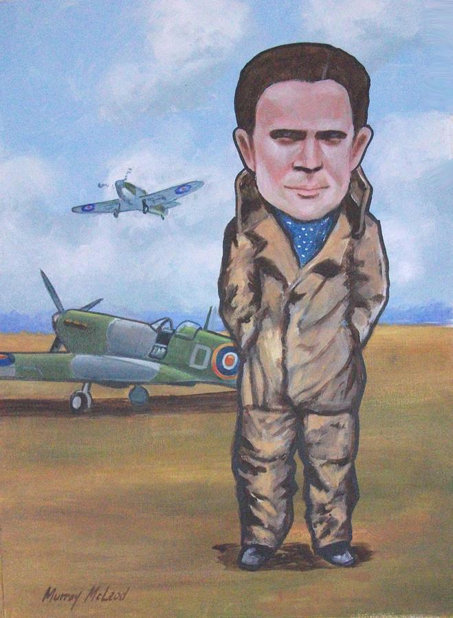 Grp. Capt. Douglas Bader Painting
