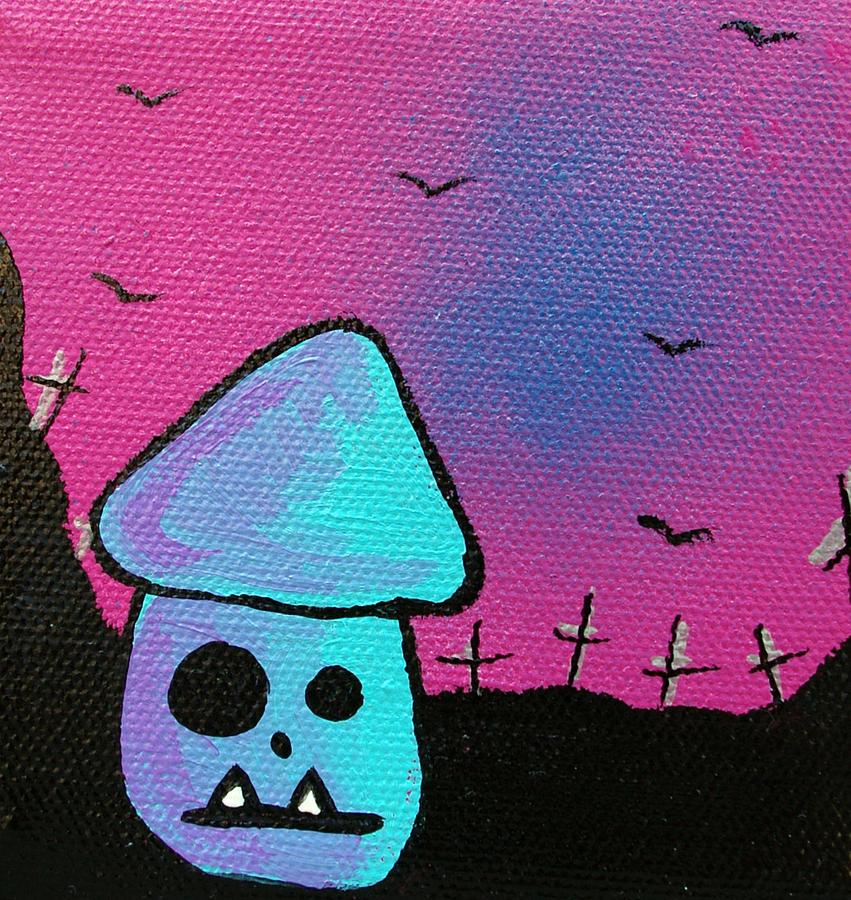 Gruff Zombie Mushroom Mixed Media