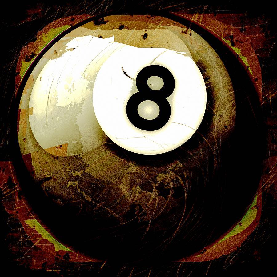 8 Photograph - Grunge Style 8 Ball by David G Paul