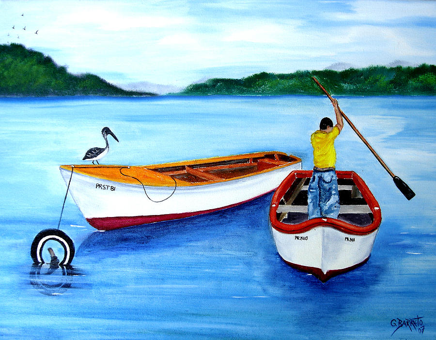 Guanica Fisherman Painting