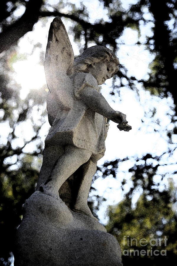 Guardian Angel With Light From Above Photograph