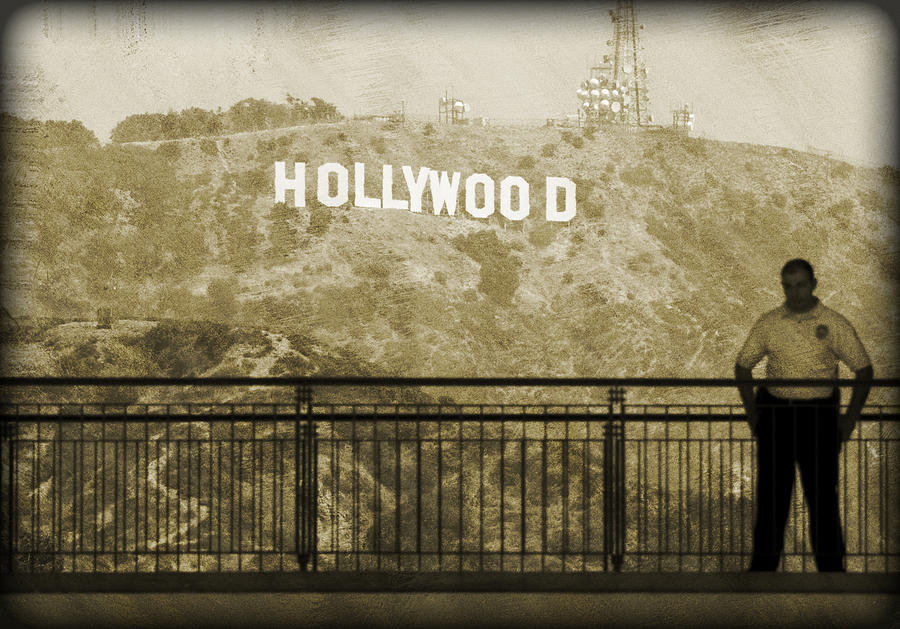 Guarding Hollywood Photograph  - Guarding Hollywood Fine Art Print