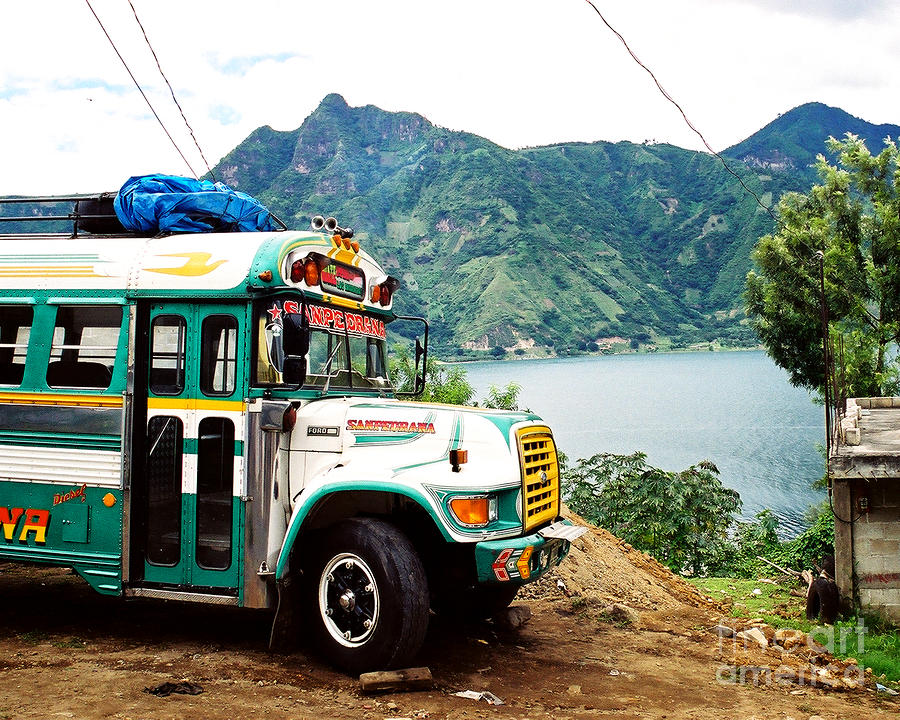 Guatemalan Chicken Bus Photograph  - Guatemalan Chicken Bus Fine Art Print