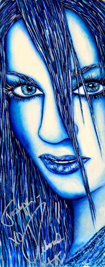 Guess U Like Me In Blue Mixed Media  - Guess U Like Me In Blue Fine Art Print
