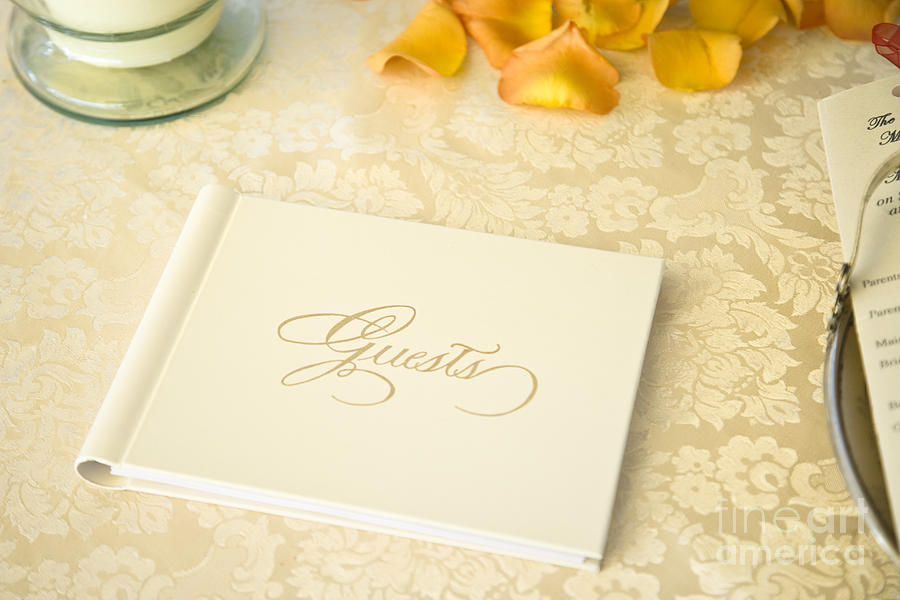 Guestbook On A Table Photograph  - Guestbook On A Table Fine Art Print