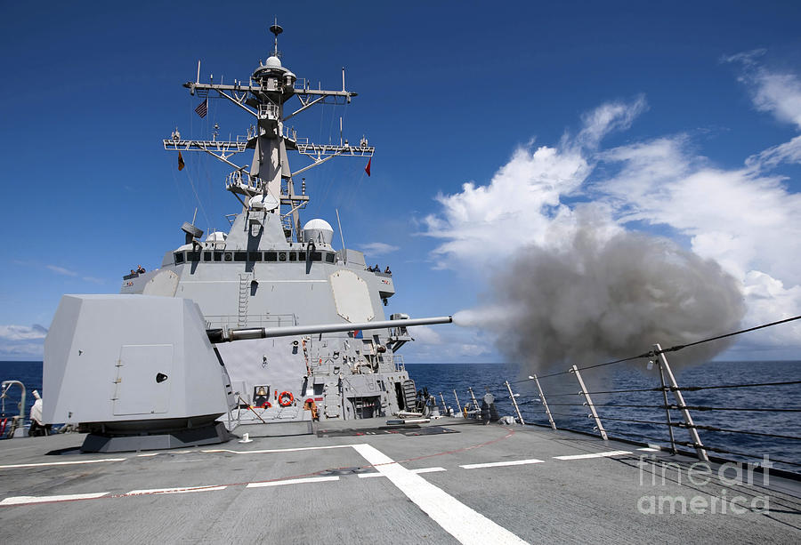 Guided-missile Destroyer Uss Pinckney Photograph
