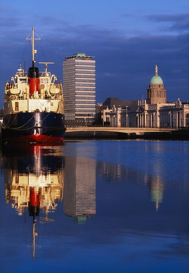 Guinness Boat, Custom House, Liberty Photograph