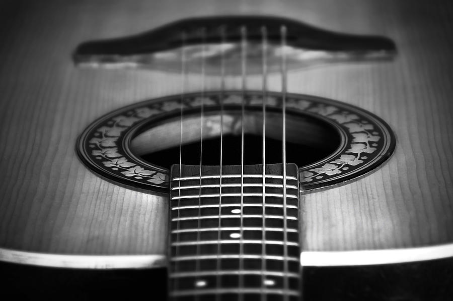 Guitar Close Up Photograph