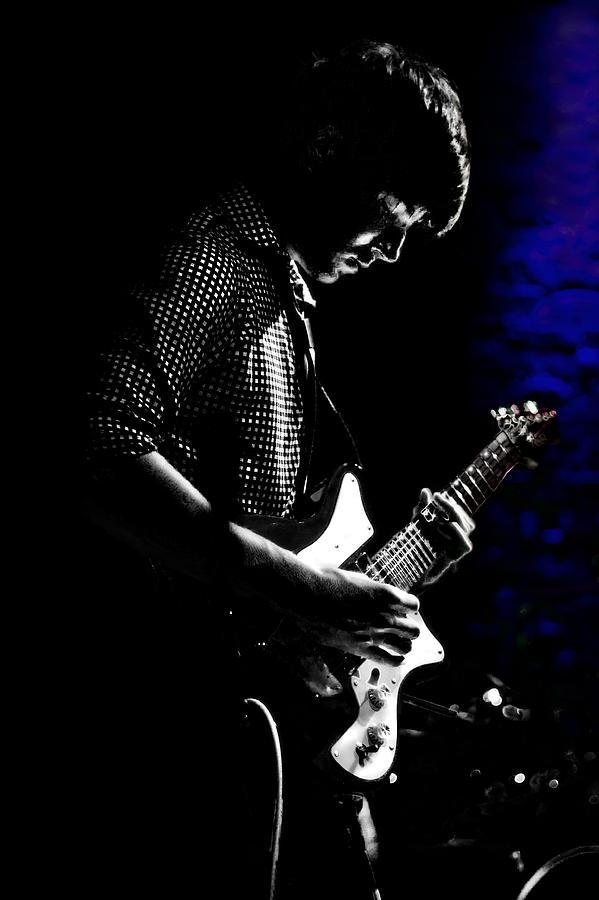 Guitar Man In Blue Photograph