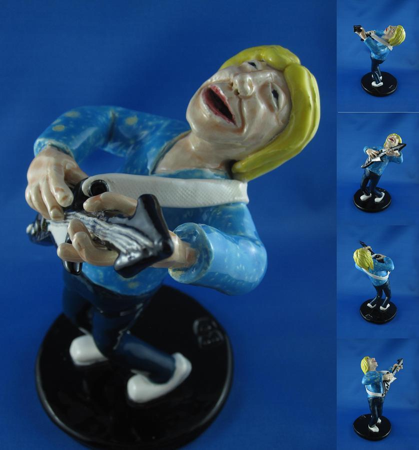 Guitar Player Sculpture