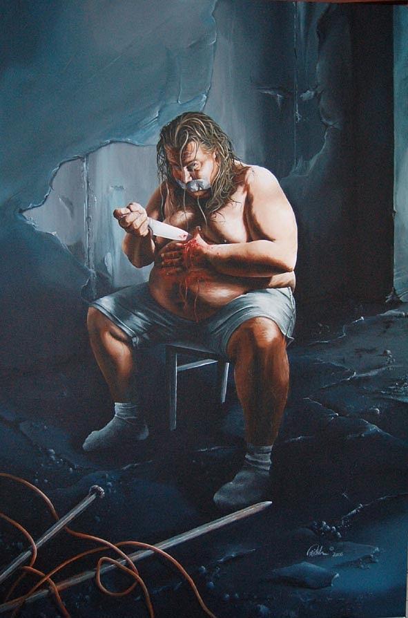 Sins Painting - Gula by Mario Pichler