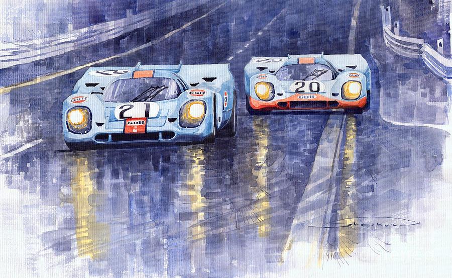 Gulf-porsche 917 K Spa Francorchamps 1970 Painting