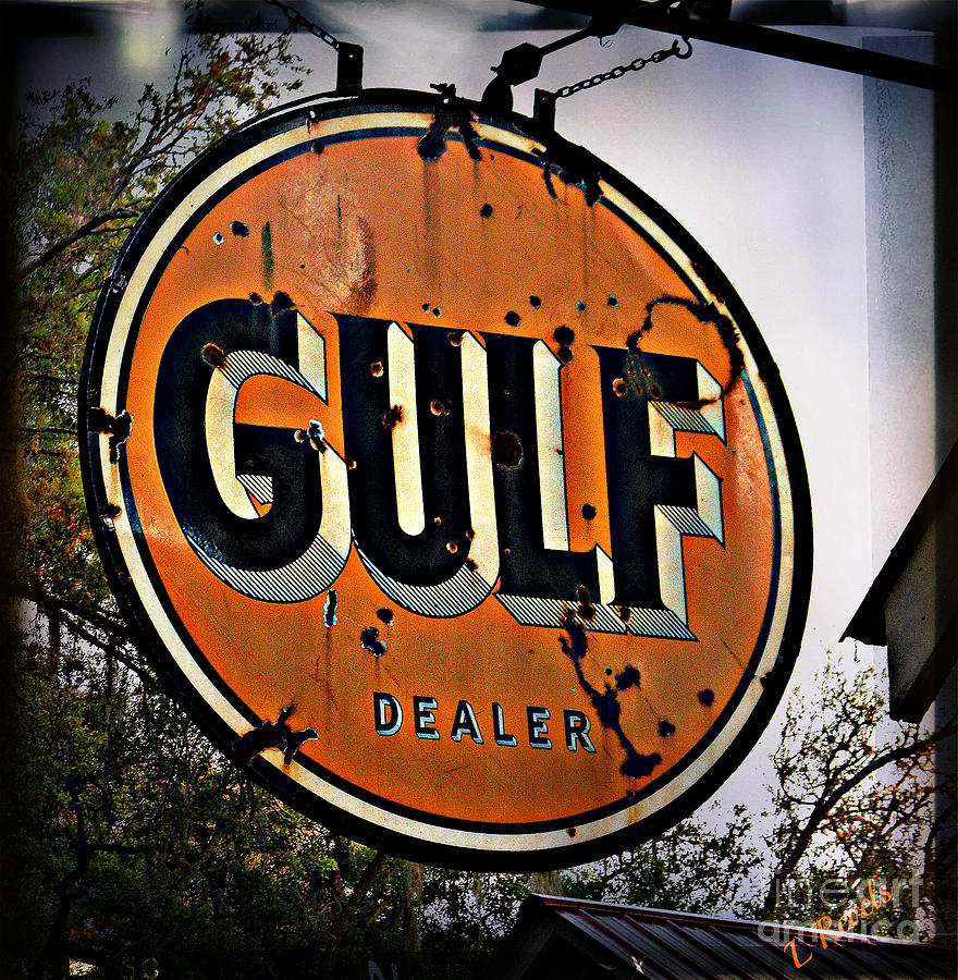 Gulf Sign Photograph  - Gulf Sign Fine Art Print