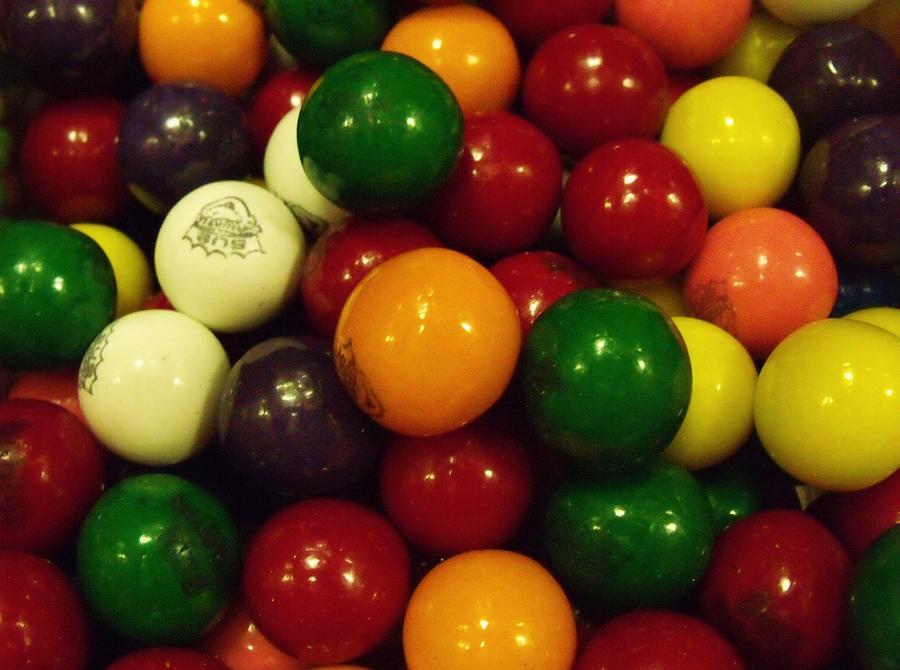 Gum Photograph - Gumballs by Anna Villarreal Garbis