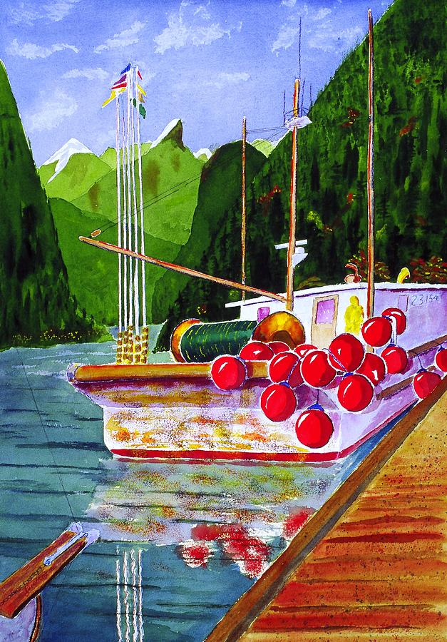 Gunboat Slough Bouys Painting  - Gunboat Slough Bouys Fine Art Print