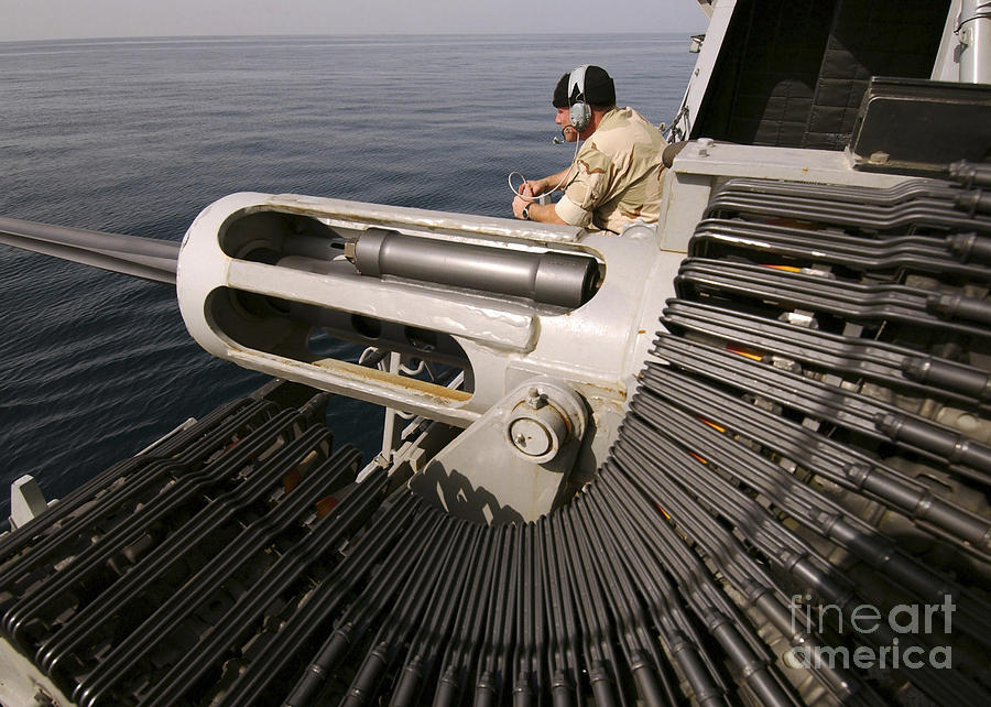 Gunner Manning A Mk-38 25mm Heavy Photograph